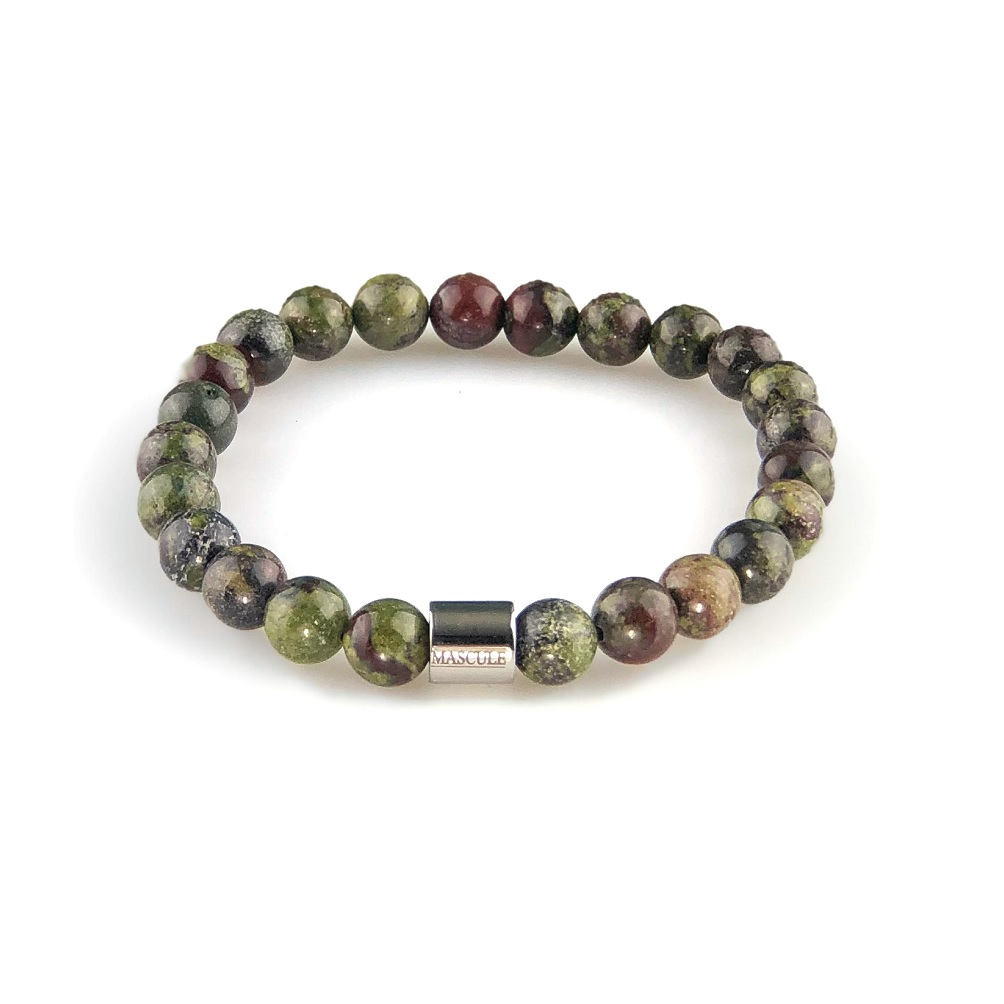 MAS2501-Mens Beaded Bracelet -Draconis-Dragons-Blood