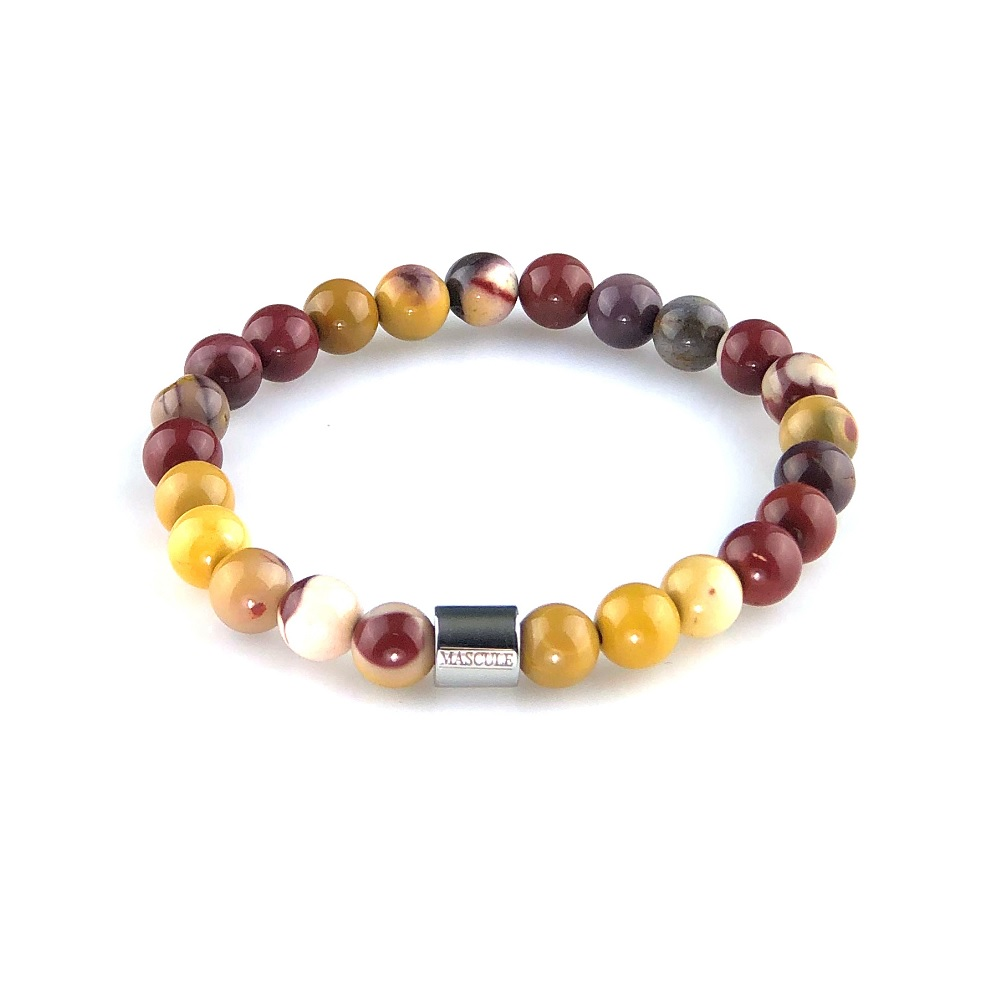 MAS2503-mens beaded bracelet -Retro-Egg-Yolk